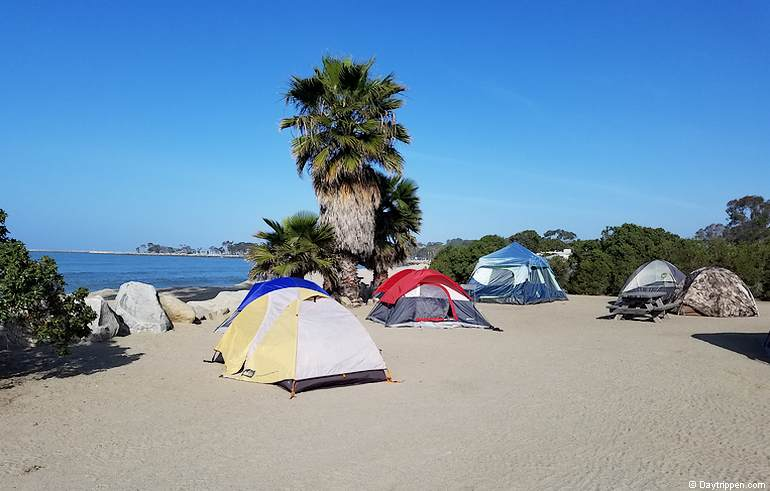 best camping california doheny beach tent camping